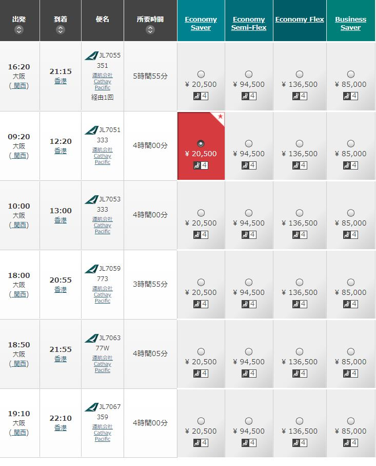 伊丹空港 国際線 香港