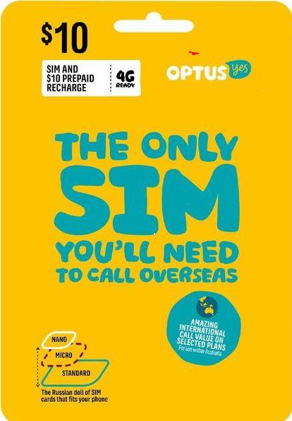OPTUS(オプタス) オーストラリア SIM (シドニー メルボルン)