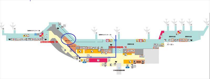 福岡空港 ラウンジ 場所