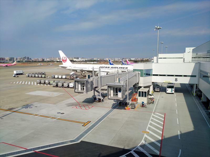 ANA  スイートラウンジ 景色 福岡空港